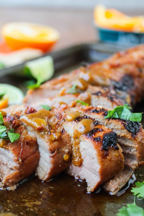Grilled Pork Tenderloin with Peanut-Lime Sauce - The Food Charlatan