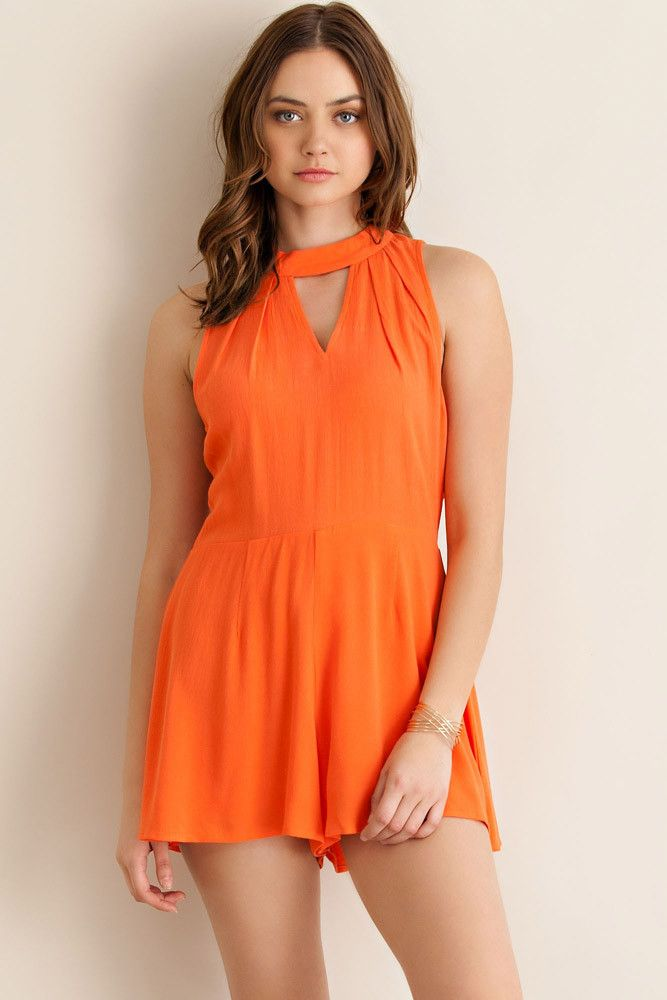 Gator Orange Game Day Romper