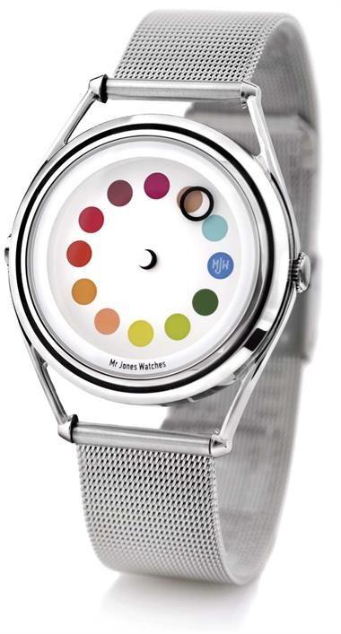 beautiful watch: Jones Watches, Wrist Watches, Colors Wheels, Cool Watches, Colors Watches, Crispin Jones, Colors Swatch, Cyclops Watches, Watches Stores