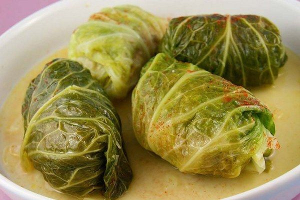 Leaves - Traditional Slovak meal | cabbage leaves stuffed with pork, rice, onion…