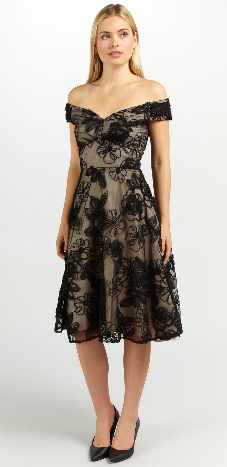 Nova Prom Short Dress Black/Champagne