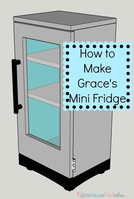 How to Make Grace's Bakery Refrigerator was easy to follow! This projects was quick and easy to make. I love it when projects like this come together!