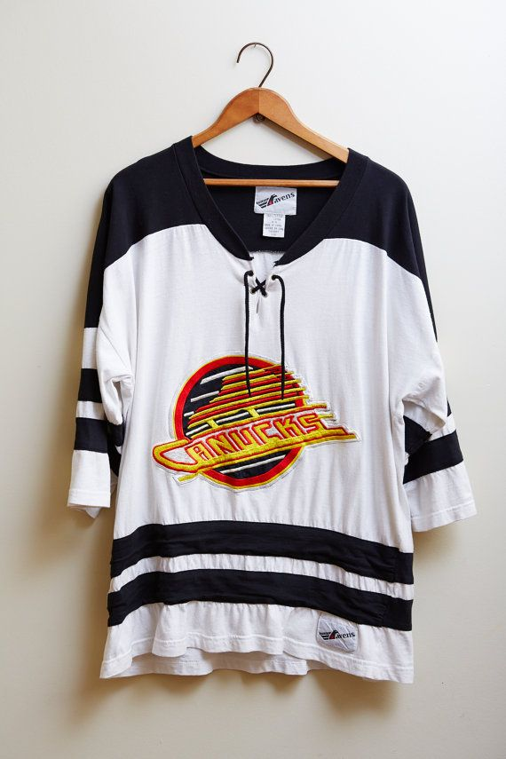 Vintage 1990s Ravens Athletic Canucks Jersey