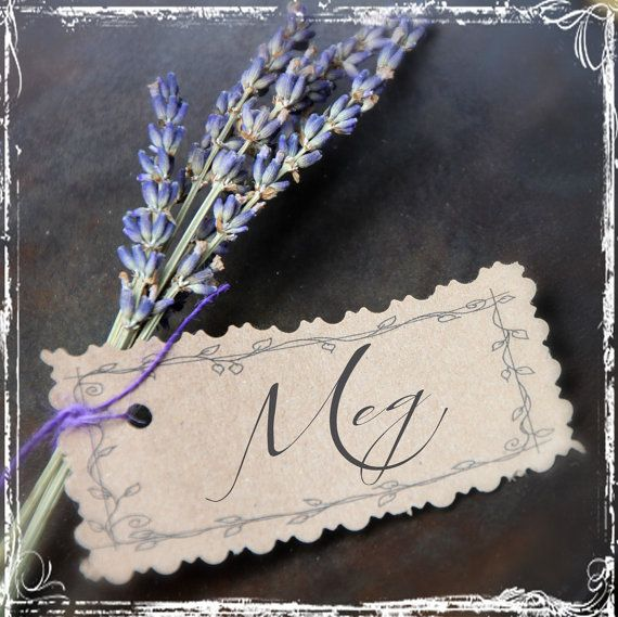 Place card holder.  French Lavender Place Card Or Escort Card  Table by sparkleandposy, $2.00