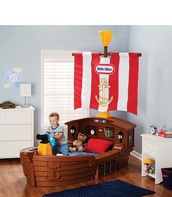 This Pirate bed from Toys R Us, is so fun. Perfect for a boys room.