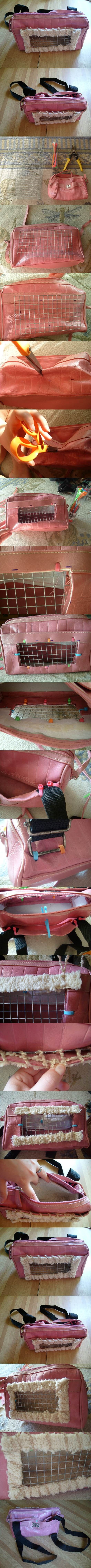DIY Recycled Small Pet Carrier Backpack 2