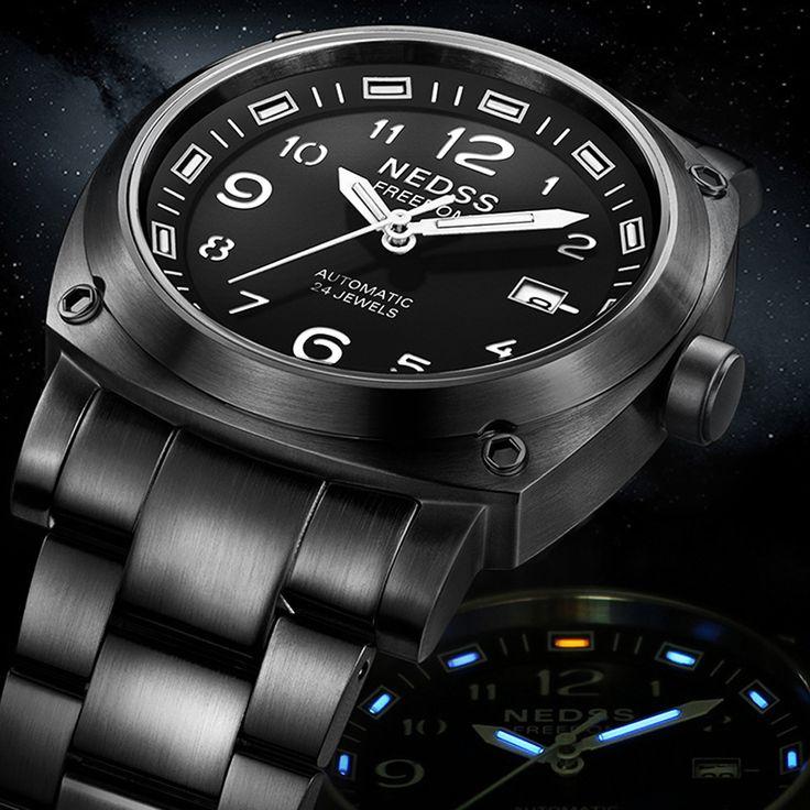 Famous brand NEDSS Swiss H3 tritium Miyota Automatic Watches Men's Sports Military sapphire 5ATM waterproof male wristwatch