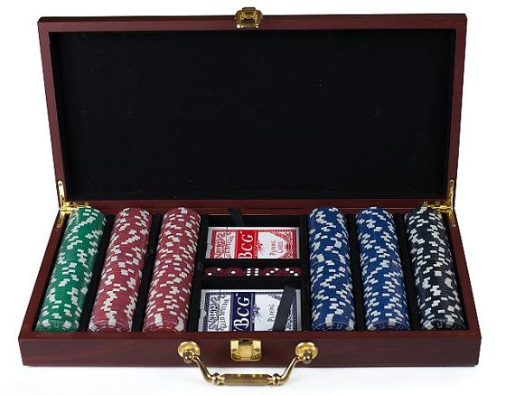 Personalized Groomsmen Gift Set of 3  Poker Set  by TheSmilinBride