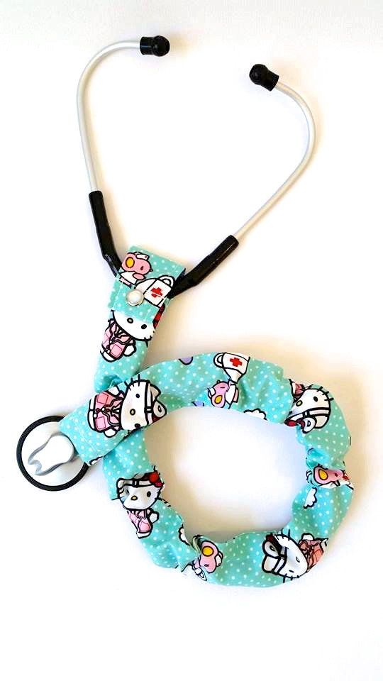Stethoscope Cover, Stethoscope Accessories, Nursing Student, Nurse, Doctor, Medical Instruments, Hello Kitty Nurses, First Aid Mice by AnnabelsAccessories on Etsy