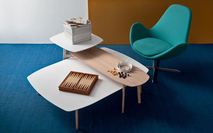 Electa Swivel Chair Match Coffee Table