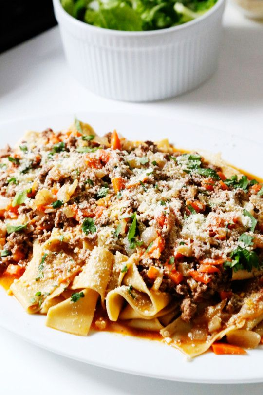 a pasta bolognese recipe with blue apron!