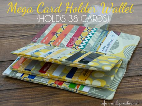 Mega Wallet - Free Sewing Pattern - this will be perfect for storing business cards at the quilt festival
