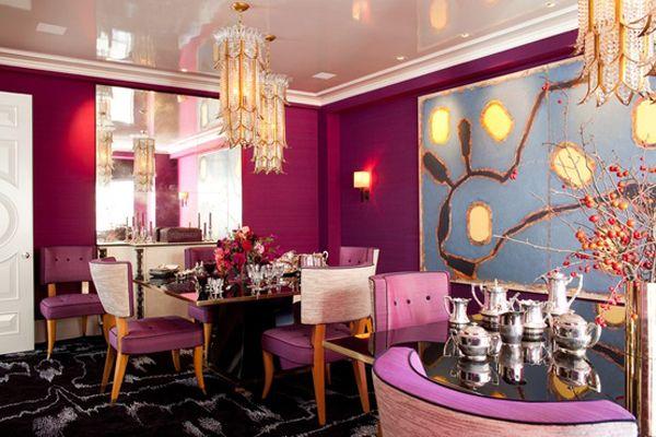 amanda nisbet design magenta pink fuschia dining room decor 3
