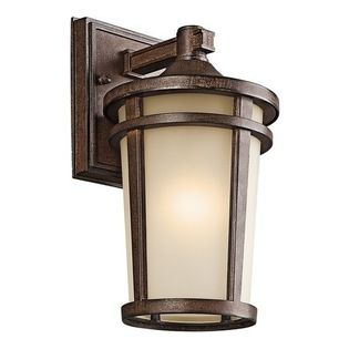 Kichler Lighting - Kichler Outdoor Wall Light in Brown Stone Finish - 49071BSTFL - Country / cottage brown stone 1-light outdoor wall light. Takes (1) 13-watt compact fluorescent spiral bulb(s). Bulb(s) included. CSA listed. Wet location rated.
