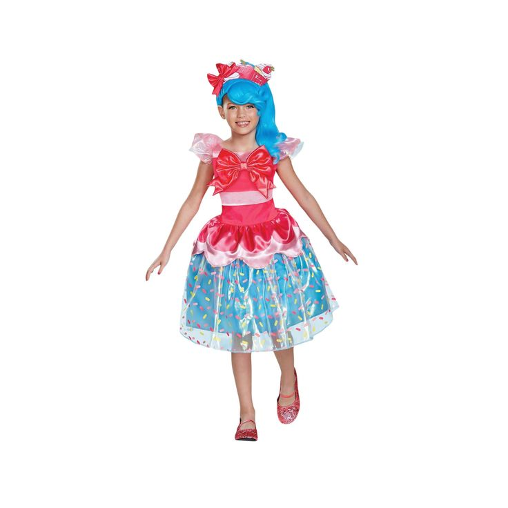 Halloween Girls' Shopkins Shoppies Jessicake Deluxe Child Costume S(4-6X), Multicolored