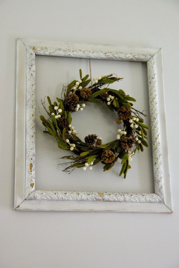 Our house, now a home: Winter framed wreath