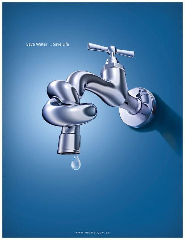 Design Poster Save Water