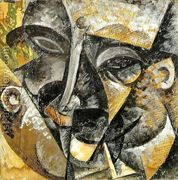 Dynamism of a man's head  by Umberto Boccioni