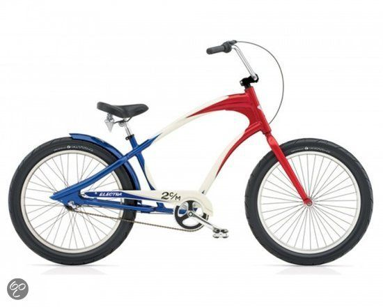 Electra Lakester 3i - Cruiser Fiets - Heren - 24 inch - Rood/Wit/Blauw