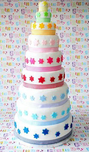 Nine tier star cake Recipe