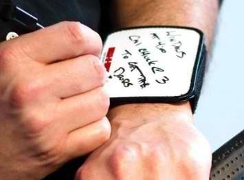 Awesome. Someone needs to get me this thing!!!!! Holy cow! novelty gifts for nurses + Wearable Dry Erase Notepads