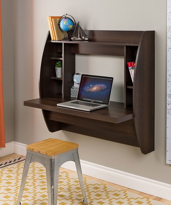 Look at this Espresso Floating Storage Wall Desk on #zulily today!