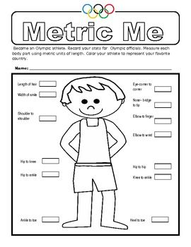 Here's a measurement activity where students measure their body parts in metric units of course and record the measurements.