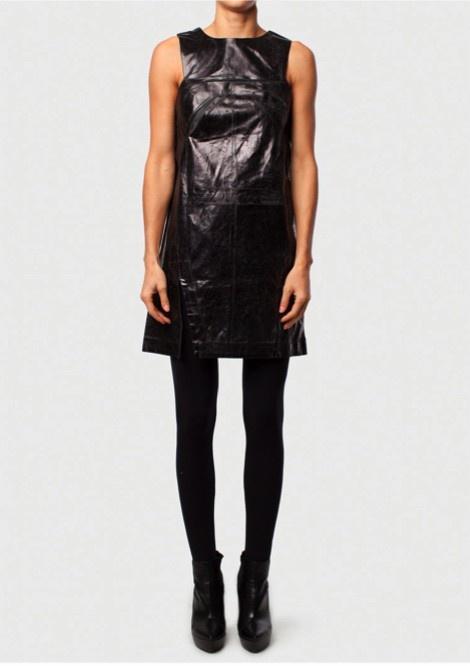 FOIL SHIFT DRESS