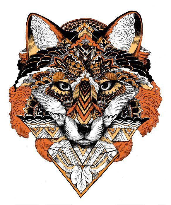 Fox artwork by Iain Macarthur, amazing
