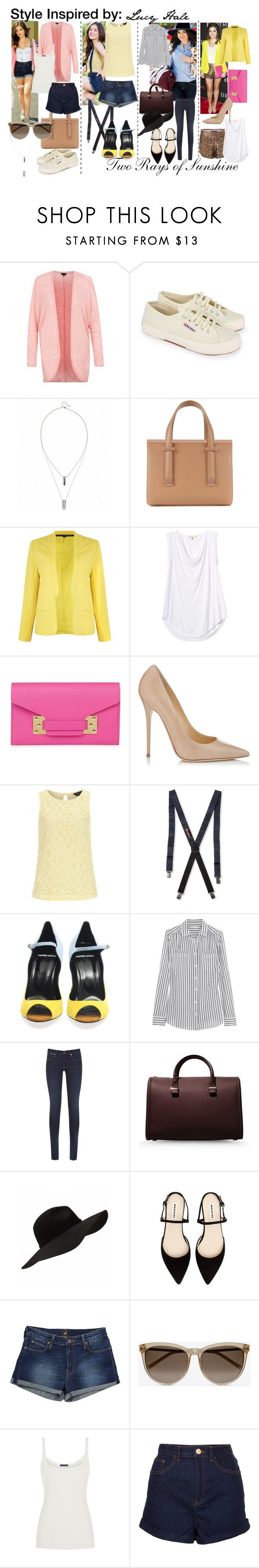 """""""Style Inspired by: Lucy Hale"""" by tworaysofsunshine ❤ liked on Polyvore featuring moda, French Connection, Superga, Ted Baker, Rebecca Taylor, Sophie Hulme, Jimmy Choo, Dorothy Perkins, Alexander Olch y Pierre Hardy"""