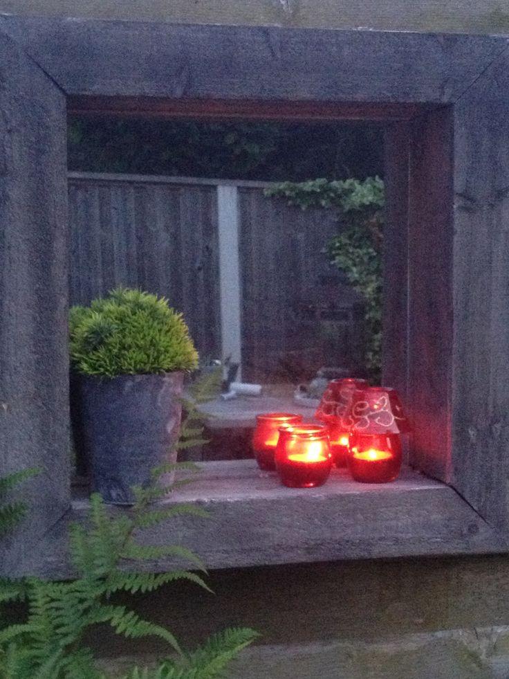 Spiegel in de tuin