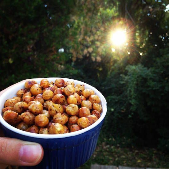 MADE THESE: great, crunchy snack. Though they weren't vinegary enough. boil longer, I think. <3 pp Sala and Vinegar Chickpeas