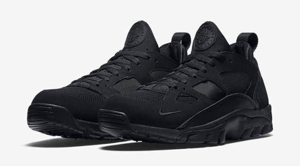 Sizes still available for the Nike Air Trainer Huarache Low Triple Black. http://ift.tt/1J65i3k