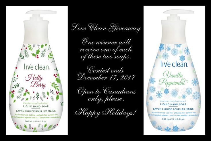 Live Clean – Luscious Holiday Soaps! ~Giveaway!