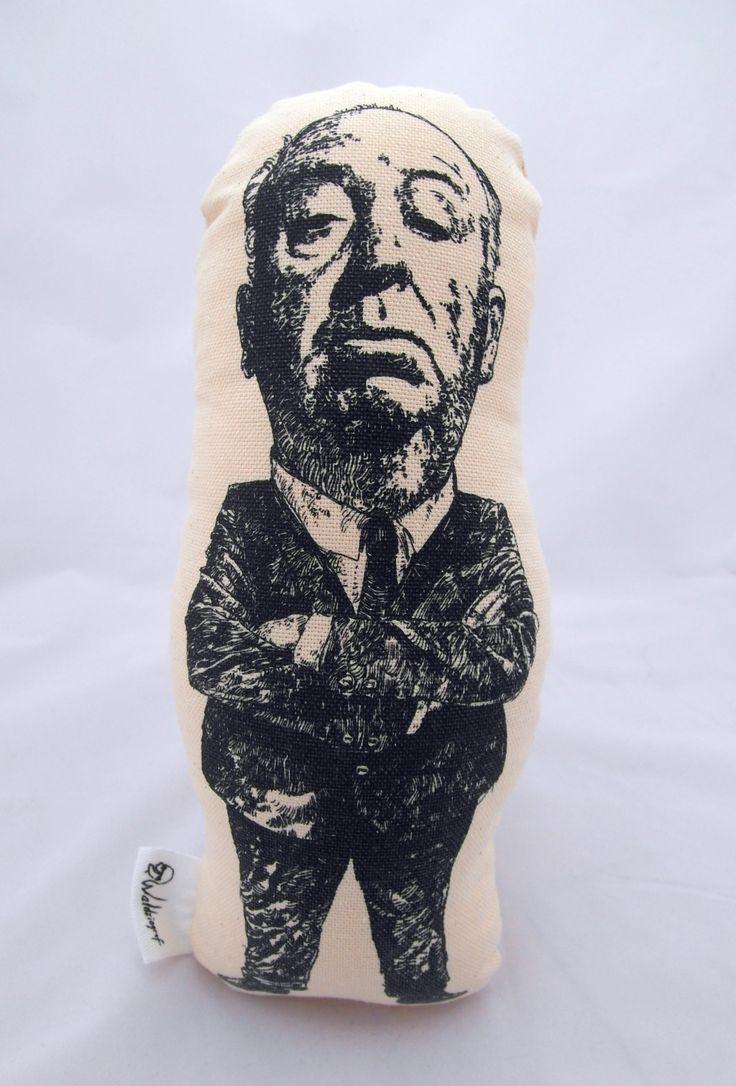 Alfred Hitchcock handmade cotton plushie