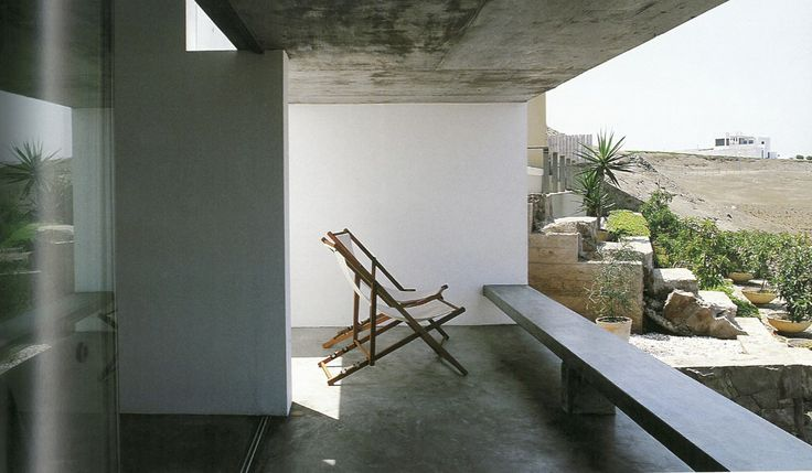 Modern House Three - Seats as structure