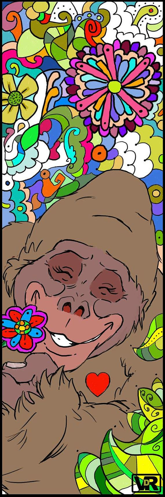 Gorilla Bookmark Adult Coloring By VanDykeRothArt On Etsy ColoringColoring BooksBook ClubsBookmarks