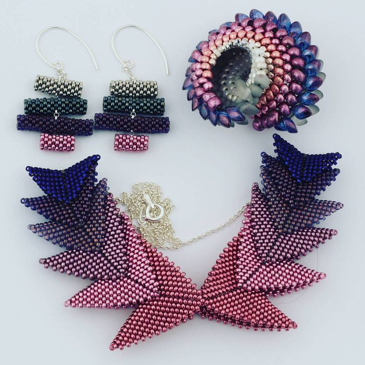 """61 Likes, 7 Comments - Anna Richerby (@belovedbeadwork) on Instagram: """"I'm really enjoying these colours at the moment."""""""