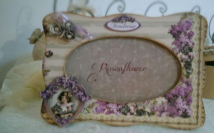 Cornice shabby portafoto, bambina, cameretta / spedizione gratuita : Decorazioni per camerette bambini di rosunflower