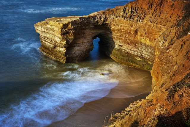The Sunset Cliffs at San Diego, CA