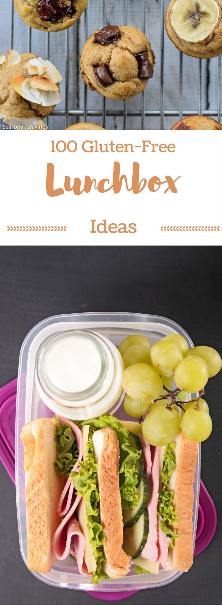 100 Gluten Free Lunchbox Ideas - Never worry about packing lunches again.  This is the ultimate resource for gluten free school lunch ideas!