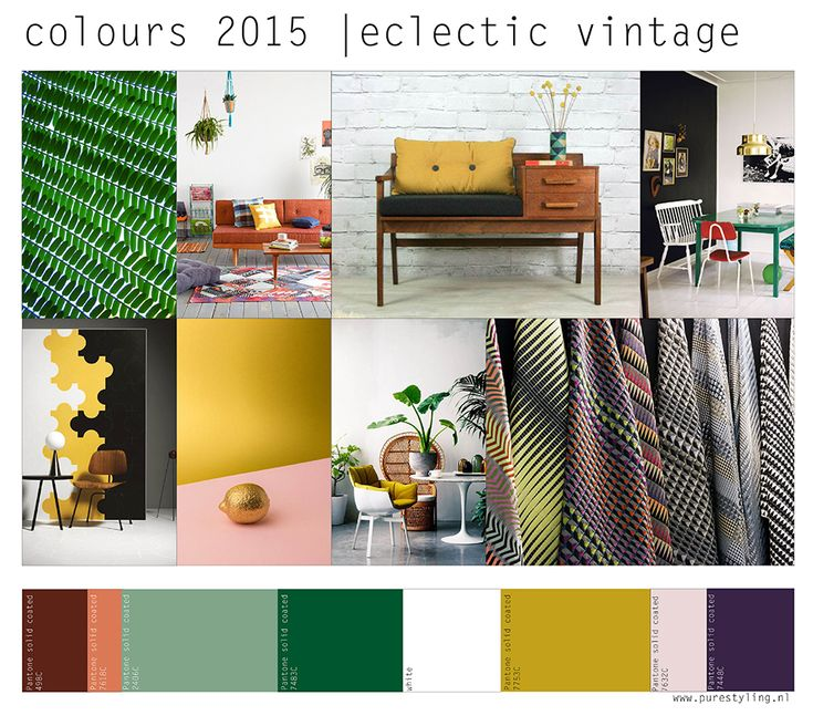 'De kleuren van 2015: moodboards en paletten' - kleurtrends volgens Stylink…