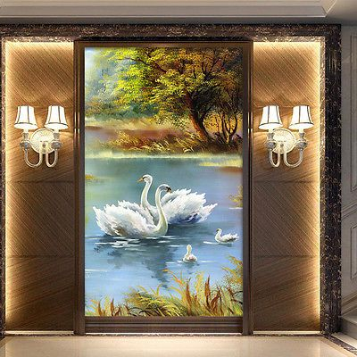 DIY 5D Diamond Painting Swans Lake Embroidery Cross Stitch Crafts Home Decor