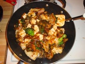 Ma-po Garlic Mustard and Tofu 015