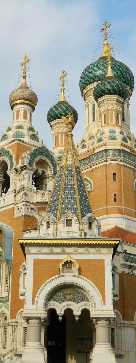 The Russian Orthodox Cathedral used by Tsar NicholasII and family, while in vacation in NIce - Cote D'Azur | France