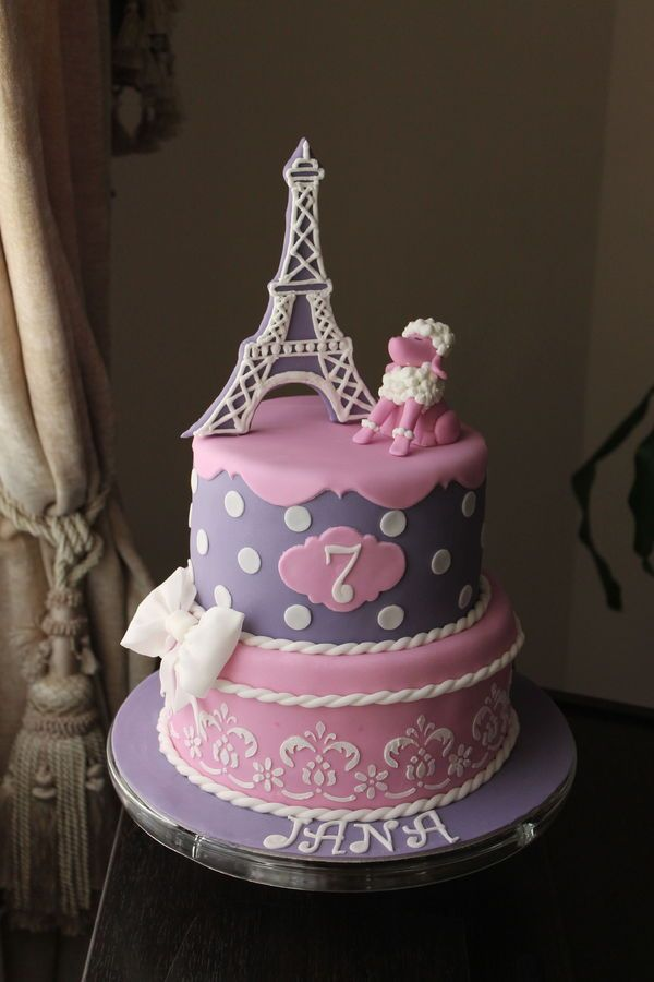 17 Best Ideas About Paris Birthday Cakes On Pinterest