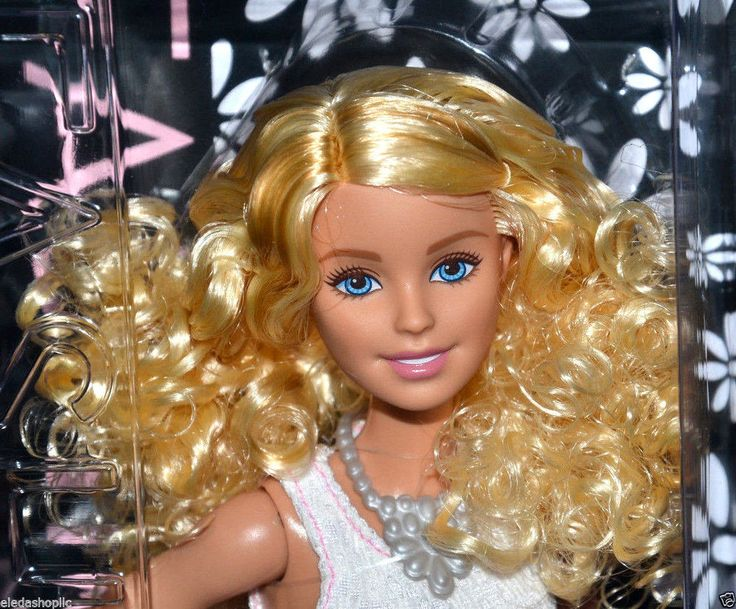 2015 NEW LOOK BARBIE FASHIONISTAS BARBIE DOLL DGY57 POWDER PINK CURLY BLONDE #MATTEL #DollswithClothingAccessories