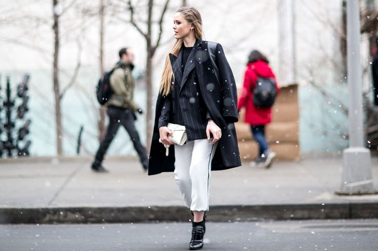 Street fashion: New York Fashion Week jesień-zima 2015/2016, fot. Imaxtree