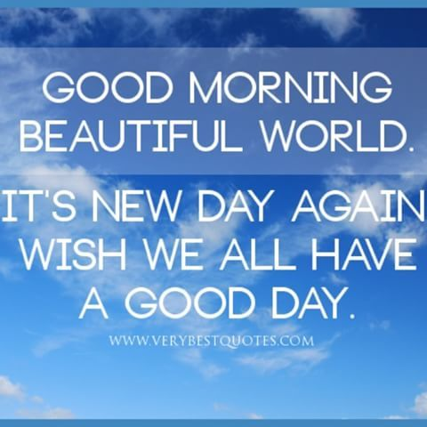 Good Morning Guys. Have a great day ahead.