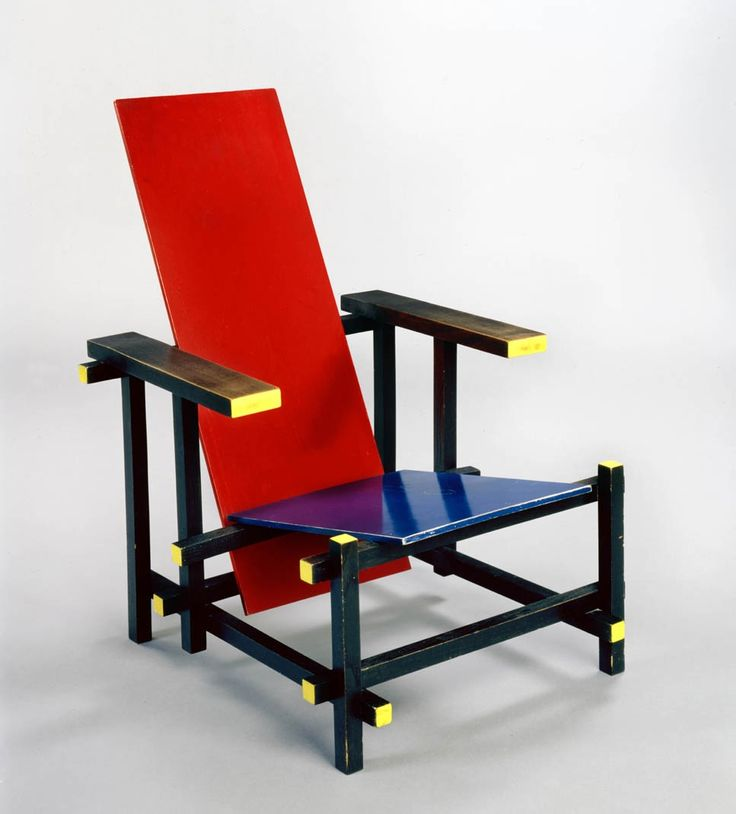 Red and blue Chair, Gerrit Thomas Rietveld, De Stijl, 1918